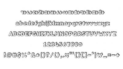 타이포 꾸미기 입체빗금 Typo SolidSlash